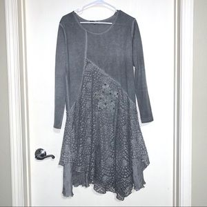 Simply Couture Grey Long Sleeve Dress